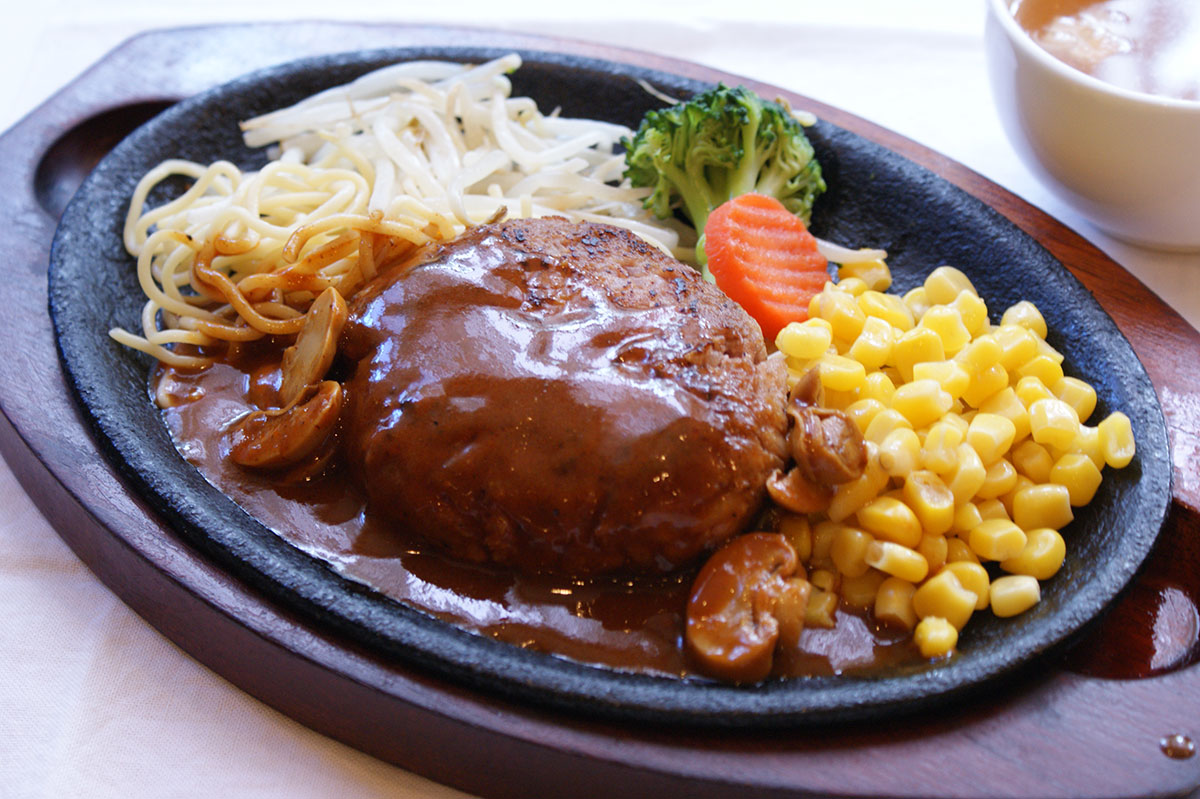 Handmade Hamburg steak(with rice, soup, pickles) 1,150yen